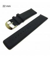 Čierny remienok na hodinky šírka 22 mm
