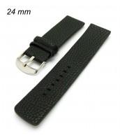 Čierny kožený remienok 24 mm