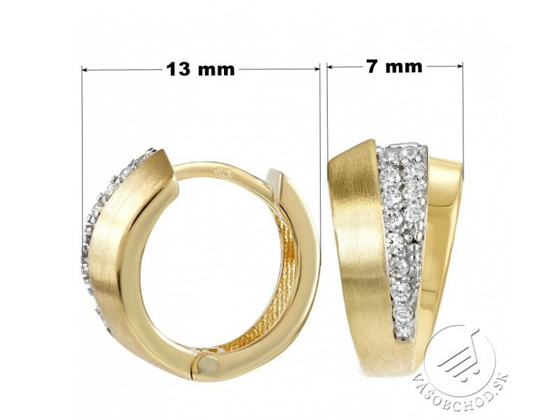 df31d94a2 Zlaté kruhové náušnice LILLA so zirkónmi - QRGE604; Zlaté kruhové náušnice  LILLA ...