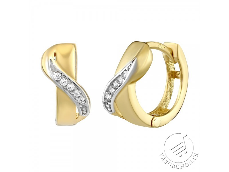 6d7a756f4 Zlaté kruhové náušnice LOELA so zirkónmi - QRGE414 - VÁŠOBCHOD.sk