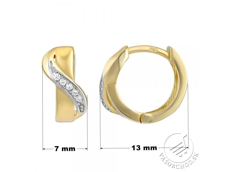 d1aa8793c Zlaté kruhové náušnice LOELA so zirkónmi - QRGE414 · Zlaté kruhové náušnice  LOELA ...