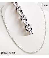 Retiazka z ocele 3 mm - dĺžka na výber