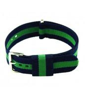 Modro-zelený textilný remienok 20 mm - 10re566M