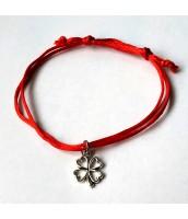 červený šnúrkový náramok štvorlístok - Darček na výber od 25 €