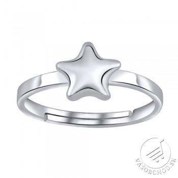 VESPER strieborný prstienok STAR na nohu - ZTD25253
