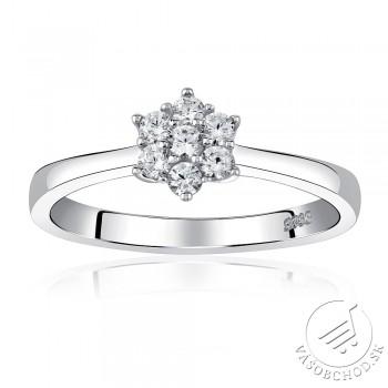 Strieborný prsteň FLORA so Swarovski Zirconia - JJJR2338SW
