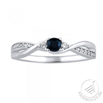 Strieborný prsteň s pravým prírodným Zafírom - JJJR1100SAP