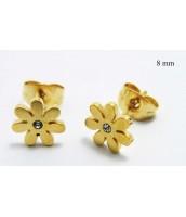 Oceľové náušnice kvetinky 236150