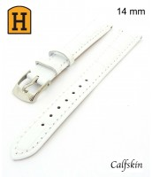 biely, kožený remienok na hodinky šírka 14 mm 250013 - teľacia koža