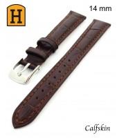 hnedý, kožený remienok na hodinky šírka 14 mm 250015 - teľacia koža