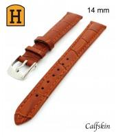 bledohnedý, kožený remienok na hodinky šírka 14mm 250012 - teľacia koža