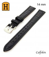 Remienok 14 mm - čierny - pravá koža - 50RE019