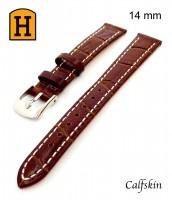 hnedý, kožený remienok na hodinky šírka 14mm 250022 - teľacia koža