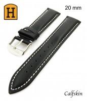 Remienok 20 mm - čierny - pravá koža - 50RE083