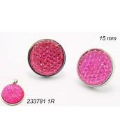 Ružové zirkónové náušnice z ocele 2337821R