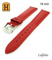 Kožený, červený remienok 18 mm - pravá koža