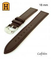 Pravý, kožený, remienok šírka 18 mm - hnedý remienok