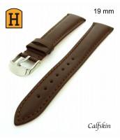 Hnedý kožený remienok 19 mm - na hodinky - pravá koža
