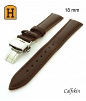 Hnedý kožený, remienok 18 mm - pravá koža - 50RE195