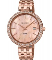 Dámske hodinky Casio SHE 4052PG-4A so Swarovski krištáľmi