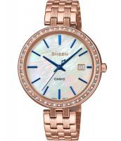 Dámske hodinky Casio SHE 4052PG-2A so Swarovski krištáľmi