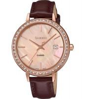 Dámske hodinky Casio SHE 4052PGL-4A so Swarovski krištáľmi
