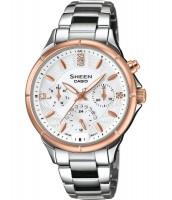 Dámske hodinky Casio SHE 3047SG-7A s krištáľmi Swarovski