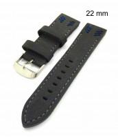 Šedý remienok na hodinky šírka 22 mm - 10RE863D