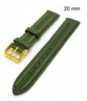 Zelený kožená remienok šírka 20 mm - pravá koža - 10RE246a