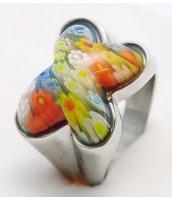 Oceľový prsteň Murano MOTÝĽ 233513A