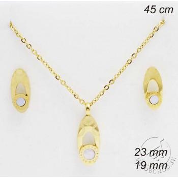 Súprava šperkov s perleťou 231821 - zlátená