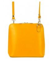 Kožená malá dámska crossbody kabelka banánová žltá - KK-1702 TR923 GIALLO