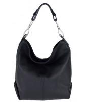Kožená dámska kabelka Shaila čierna - KK-S7116 NERO