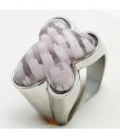 Oceľový prsteň Murano MOTÝĽ 233511A