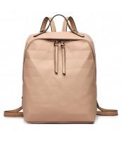 Béžový dámsky elegantný batoh Miss Lulu - LU-LG1904 KI