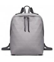 Šedý dámsky elegantný batoh Miss Lulu - LU-LG1904 GY