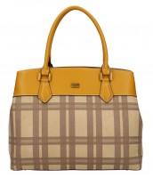 Horčicovo žltá dámska kabelka do ruky David Jones - CM5499