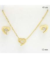 Súprava šperkov SRDCE dekorovaná zirkónom 237386-