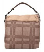 Kombinovaná veľká dámska kabelka Tommasini prírodná hnedá - BLY538