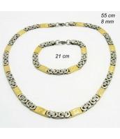 Oceľová súprava šperkov bi-color 237547