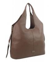Moderná ílová hnedá dámska kabelka cez plece - 5064-TS