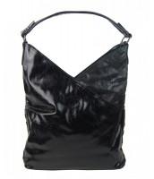 Moderná dámska kabelka cez plece - 5140-BB čierna