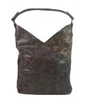 Moderná dámska kabelka cez plece - 5140-BB prírodná hnedá