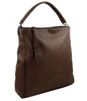 VEĽKÁ moderná dámska kabelka - 5134-BB kávovo hnedá