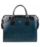 Modrá petrolejová dámska kabelka pre notebook do 15.6 palca PUNCE - LC-01