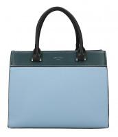 DAVID JONES modrá dámska kabelka s tromi sekciami - 6217-2