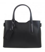 Kožená čierna dámska kabelka do ruky Maila - KK-M9018 NERO