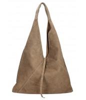 Kožená veľká dámska kabelka cez plece Alma hnedá prírodná - KK-S7137 FA-FANGO