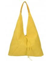 Kožená veľká dámska kabelka Alma žltá - KK-S7137 GI-GIALLO