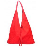 Kožená veľká dámska kabelka Alma červená - KK-S7137 RO-ROSSO